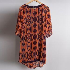 W 118 by WALTER BAKER Orange Chiffon Dress